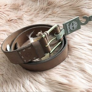 Timberland men's brown leather belt size 34 new